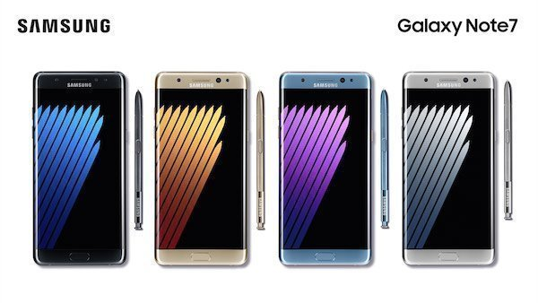 Samsung Galaxy Note 7 Colors Main