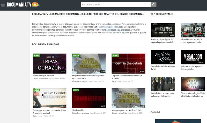 DocumaniaTV: miles de documentales gratuitos en español