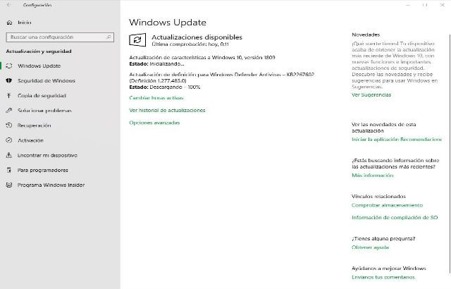 Windows 10 Actualizacion