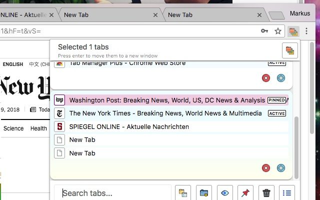 Tab Manager Plus