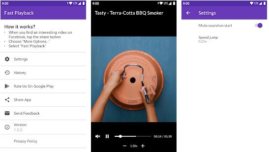 Fast playback android